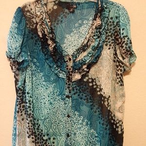 East 5th sheer blouse - 2X